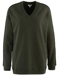 KENZO V-neck Logo Sweatshirt - Green