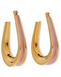 Annelise Michelson Ellipse Enamel-detail Earrings - Metallic