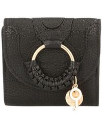 See By Chloé Hana Square Compact Wallet - Black