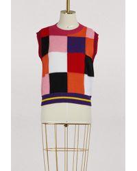MSGM - Merino Sleeveless Sweater - Lyst