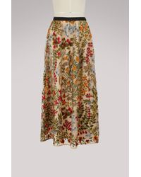 RED Valentino - Embroidered Flower Skirt - Lyst