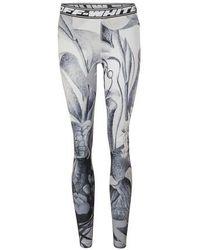 Off-White c/o Virgil Abloh Botanical leggings - Blue