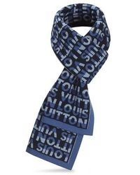 Louis Vuitton Lv Split Scarf - Blue