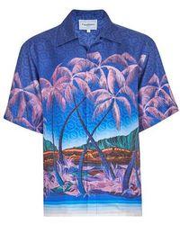 CASABLANCA Nuit À Maui Shirt - Blue