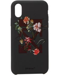 Off-White c/o Virgil Abloh Flowers Iphone X Case - Black