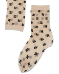 Fendi Karligraphy Motif Socks - Natural