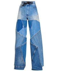 Tom Ford Patchwork Vintage Jean - Blue