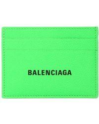 Balenciaga Porte-cartes en cuir - Vert