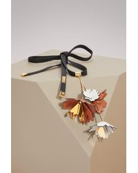 Marni - Leather And Brass Necklace - Lyst