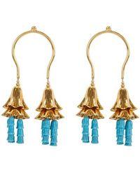 Patou Flower Earrings - Blue