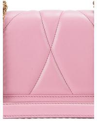 Dolce & Gabbana Mini Devotion Cross Body Bag - Pink