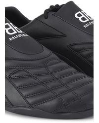 Balenciaga Men's Zen Panelled Faux-leather Slip-on Sneakers - Black