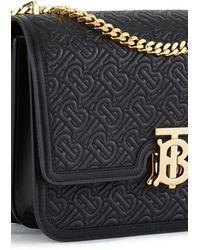 Burberry Medium Quilted Monogram Bag - Black