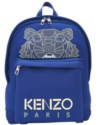 KENZO Embroidered Tiger Backpack - Blue