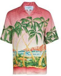 CASABLANCA Rose À Maui Shirt - Green