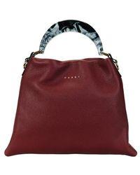 Marni Grained Calfskin Hobo Bag - Multicolour
