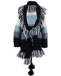 Alanui Alpaca And Wool Cardigan - Blue