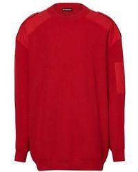 Balenciaga Pullover mit Rundhalsausschnitt - Rot