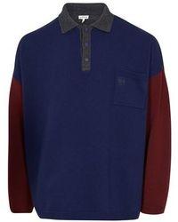 Loewe Oversize Poloneck Sweater - Blue