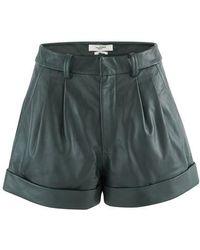 Étoile Isabel Marant Abot High-rise Leather Shorts - Green