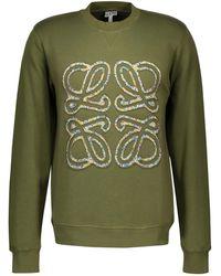 Loewe Flower Anagram Sweatshirt - Green