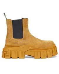 Fendi Yellow Suede Chelsea Boots