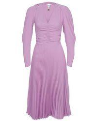 Patou Pleated Dress - Purple