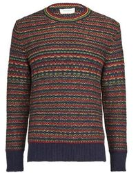 Wales Bonner Jamaican Fair Isle Jumper - Brown