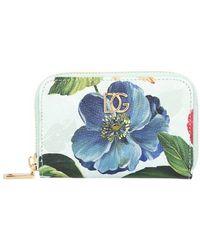 Dolce & Gabbana - Portefeuille fleurs - Lyst