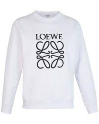 Loewe Embroidered Logo Sweatshirt - White