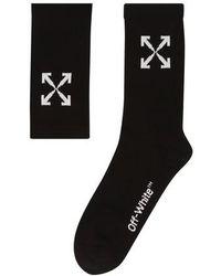 Off-White c/o Virgil Abloh Socken mit Jacquard-Logo - Schwarz