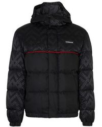 Versace Multilogo Puffer Jacket - Black