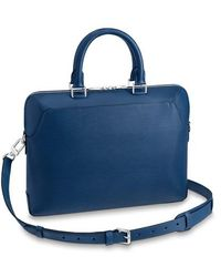Louis Vuitton Oliver Briefcase - Blau