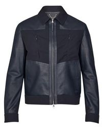 Louis Vuitton Mixed Leather Jacket - Blue