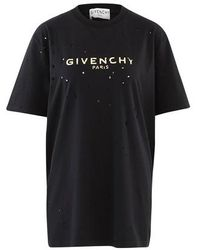 Givenchy Destroy Masculine Cut T-shirt - Black