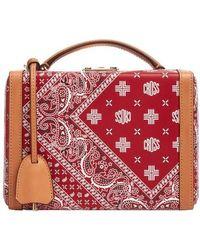 Mark Cross Boxtasche Grace kleines Modell - Rot