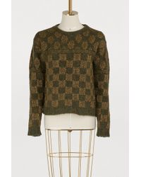 Roberto Collina - Square-patterned Jumper - Lyst