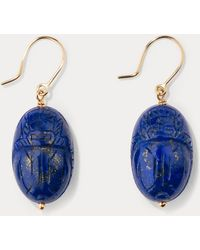 Aurelie Bidermann - Lapis Lazuli Earrings - Lyst