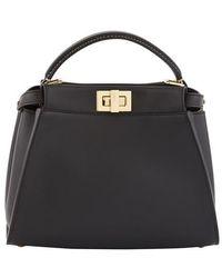 Fendi Mini Peekaboo Bag - Black