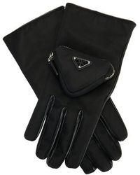 Prada Handschuhe mit Tasche - Schwarz