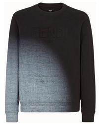 Fendi Cotton Sweatshirt - Black