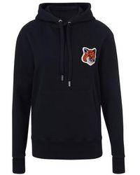 Maison Kitsuné Fox Head Hoodie - Black
