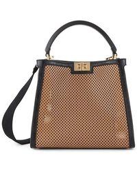 Fendi Peekaboo X-lite Hand Bag - Brown