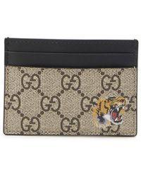 Gucci - GG Tiger Print Card Holder - Lyst