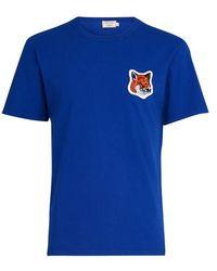 Maison Kitsuné Fox Head Patch Classic T-shirt - Blue