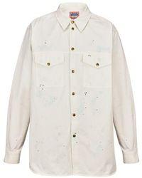 Acne Studios Uni Painter Overshirt - White