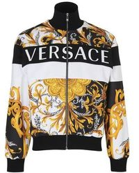 Versace Barocco Zipped Track Jacket - Black