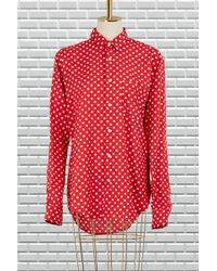 AMI - Dotted Shirt - Lyst