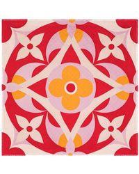 Louis Vuitton Kaleidogram Monogram Tuch - Rot