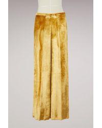 Forte Forte - Silk And Velvet Pants - Lyst